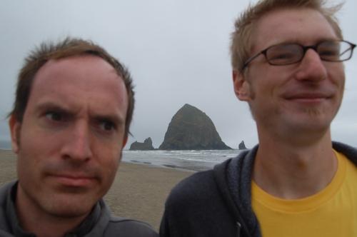 Trevour & Jef at Haystack Rock