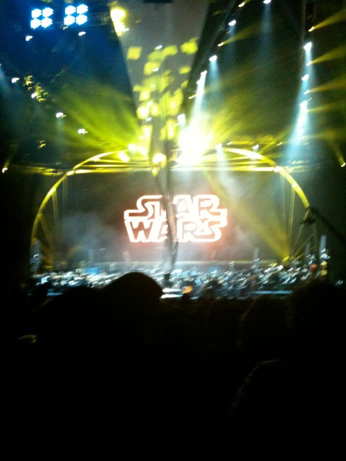Star Wars (complete with stage malfunction)